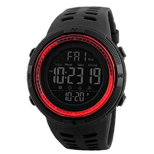 Hainice Reloj Digital para Hombre, Reloj Deportivo Relojes electrónicos Deportes de Cuarzo Digital con Brazalete de Cuero a Prueba de Agua a Prueba de Agua.
