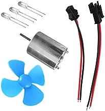 Baoblaze Mini Small LED Fan DC Motor Wind Generator Blade Motor Micro Wind Turbines Generator