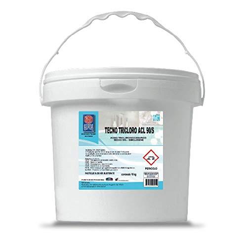 SEPCA Tecno TRICLORO ACL 90/S Cloro en pastillas para piscinas Ácido tricloroisocianúrico...
