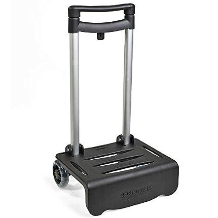 Busquets - Carro Portamochilas Plegable, color Negro