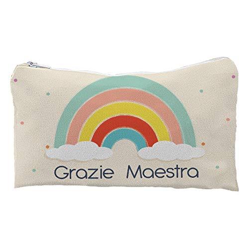 My Custom Style Astuccio Artigianale #Scuola-Arcobaleno# 24x10 Full Print
