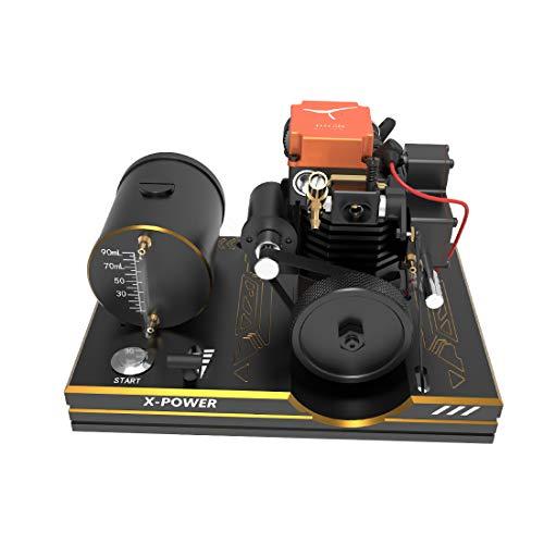 POXL Toyan Motor Bausatz, Viertaktmotor RC Engine 4 Stroke Methanol Motor für 1:10 1:12 1:14 RC Auto Boot Flugzeug - FS-S100A Alle Start KIt Enthalten