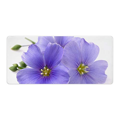 Green Flower Desktop and Laptop Mouse pad 1 Pack 800x300x3mm/31.5x11.8x1.1 in