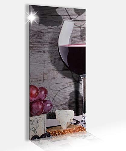 Acrylglasbilder 40x100cm Wein Glas Trauben Essen Küche Vintage Acrylbild Acrylglasbild Druck Acryl Acrylglas Bild Bilder 14A9394