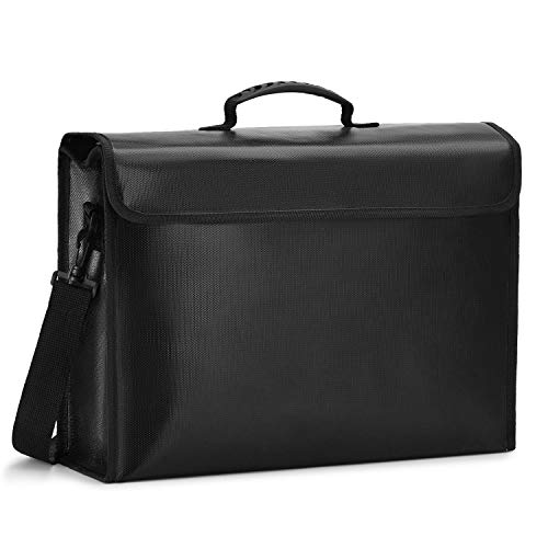 Bolsa Ignifuga (1093 °C) Silicona impermeable con Bisagra Incombustible para Documentos Dinero Tableta Pasaporte Joyería Protección (1 Piezas)