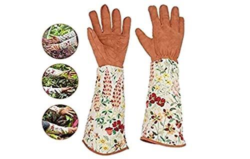 Marvin North Handschuh Schutzhandschuhe Gartenhandschuhe Gedruckt Gartenhandschuhe und Lange Ärmel Handgelenkschutz Garten Pflanzen Pruning Gartenhandschuh All-Finger Schutzhandschuhe