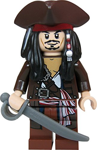 LEGO Piratas del Caribe - Figura del capitán Jack Sparrow con Sombrero Pirata