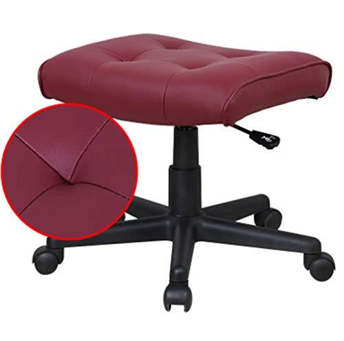 CZWYF Salon Nail Pedicure Stool Silla de pedicura neumática, Ajustable, Muebles y Equipos de salón de Liar / 17.7x16.5x17-20.8inches (Color : Red)