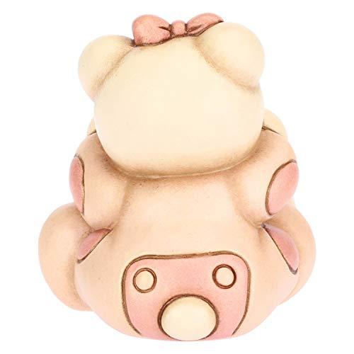 THUN - Teddy con Cuore per Bimba - Bomboniera e Soprammobile - Formato Piccolo - Ceramica - 6 x 7 x 6,7 h cm