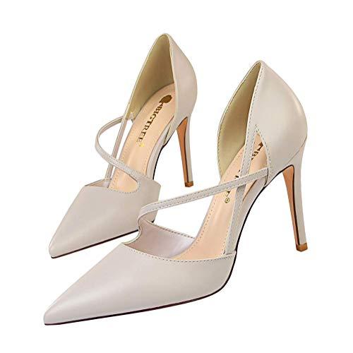 Minetom Damen High Heels Sandalen Transparente Peep Toe Sandalen Knöchel Schnalle Party Freizeit Hochzeit Abend Sommer Schuhe A Grau 35 EU