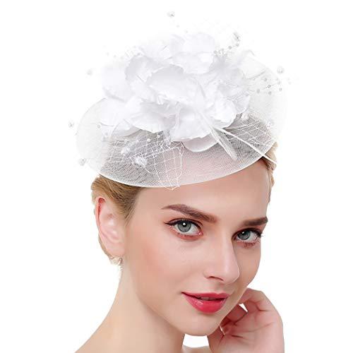 Zoylink Chapeau De Fleur Fascinant Chapeau De Thé Créatif Pince à Cheveux Fascinator Mesh