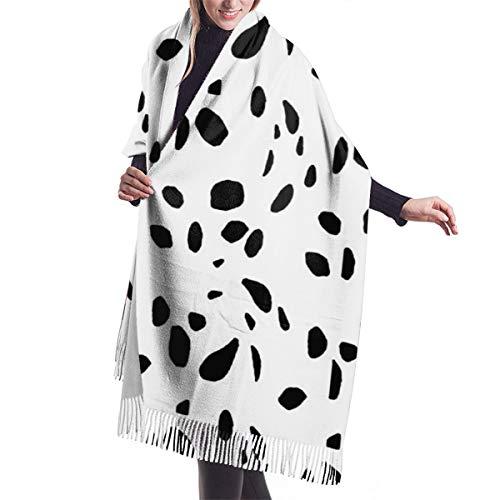 Women's Fashion Scarves Dalmatian Print Comfortable Long Shawl Winter Thick Warm Scarf