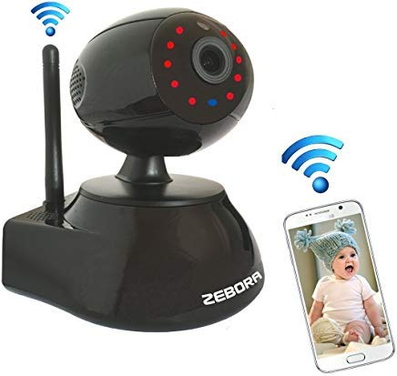 ZEBORA® Baby Monitor, Super HD 960P Internet WiFi Wireless Network IP Security Surveillance Video Camera System, Pet and Nanny Monitor with Pan and Tilt,...