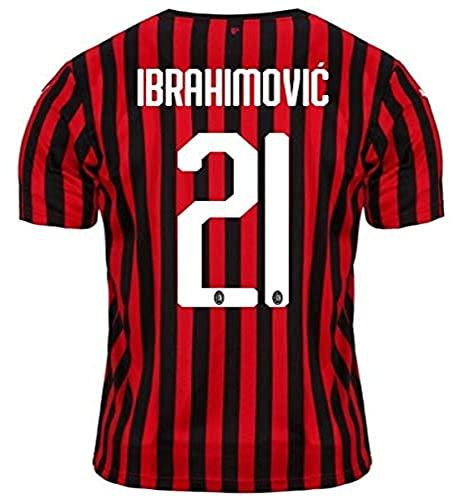 Puma AC Milan 2019/2020 Ibrahimovic - Camiseta de Manga Corta para niño, Color Negro