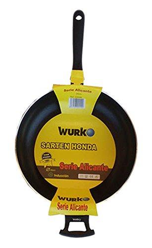 Wurko 019838-Poêle en Aluminium avec Manche 32 cm
