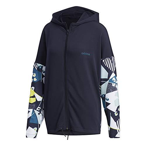 adidas Damen Farm Sweatjacke blau XS