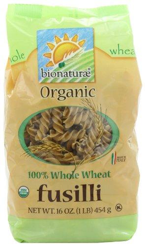bionaturae Organic Whole Wheat Fusilli, 16-Ounce Bags (Pack of 6)