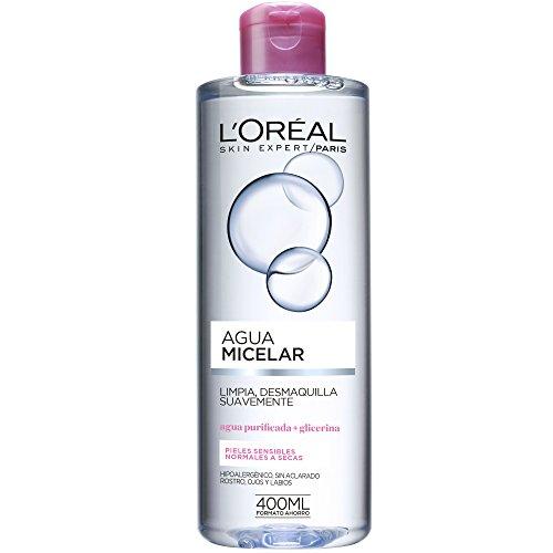 L'Oreal Paris Dermo Expertise Agua Micelar para Pieles Sensibles, Normales a Secas de L'Oréal Paris - 1 Unidad