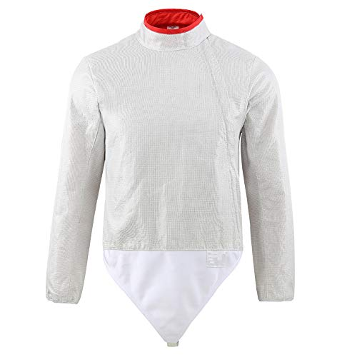 ThreeWOT Fencing Sabre Lame,INOX Electric Jacket Sabre(Front-Zip) (Female 44)