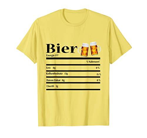Lustige Bier Nährwertangaben Geschenk Geburtstag T-Shirt
