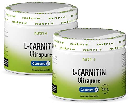 L-CARNITIN Pulver 500g - 100{8cd199c5dc6cd6c09c389f5c8171747549808ec4df912e568daa6d44083976cd} reines Carnipure Tartrat Ultrapure Powder - vegan + hohdosiert - L-Carnitine von Lonza - Nutri-Plus Carnitinpulver ohne Zusatzstoffe