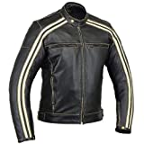 Australian Bikers Gear Retro Style 'The Bonnie' - Chaqueta de moto, Negro /...