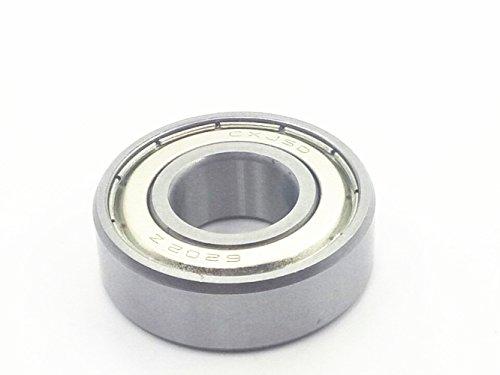 2Pcs 6202 Z 15mm x 35mm x 11mm Single Row Wheel Roller Shielded Deep Groove Ball Radial Bearings