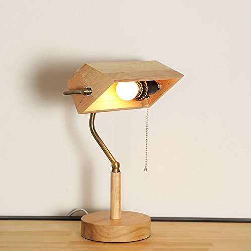 Chinois style salon lampe de table créative pays en bois rétro chambre table de chevet lampe