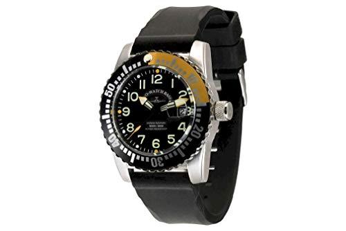 Zeno Watch Basel Orologio da Uomo Analogico Automatico con Bracciale siliconata 6349-12-a1-9
