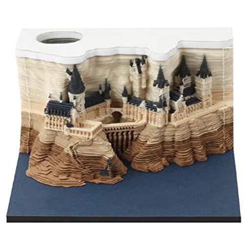 3D Die Schlossdekoration, Hogwarts Castle, Haftnotizen für Lehrer Freunde Kollegen