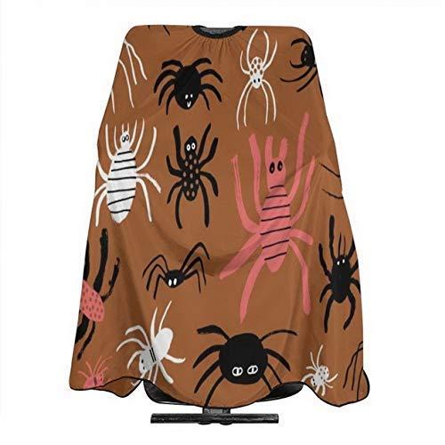 Papel pintado de cangrejo insectos araña impermeable ajustable niños adultos capa de corte de pelo se adapta para peluquería y uso doméstico 55x66 pulgadas