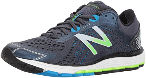 New Balance Men's 1260V7 Running Shoe, Grey/Black,...
