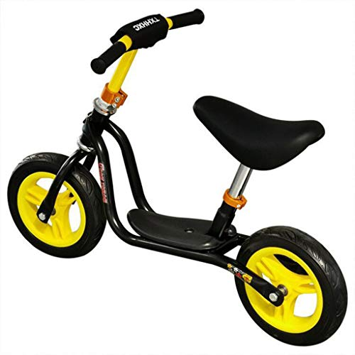 GASLIKE Spingere Bambini Sport Bambino Balance Glider Bici Walking Bicicletta per Boys & Girls 12 Pollici per 18 Mesi 2 3 4 5 Anni per i più Piccoli,Giallo