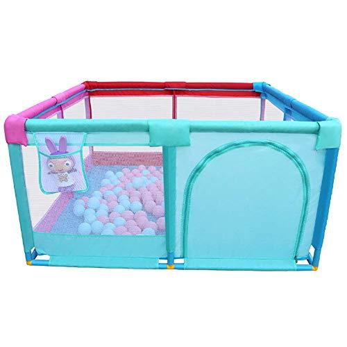 WYJW Loopstal voor kinderen, inklapbaar, voor baby's, met deur, scheidingswand tegen inslag, voor baby's, voor zuigelingen, 128 keer; 66 cm