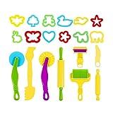 Juego de herramientas para modelar la masa, 20 piezas, herramientas para amasar, masa, juguete de cocina para niños