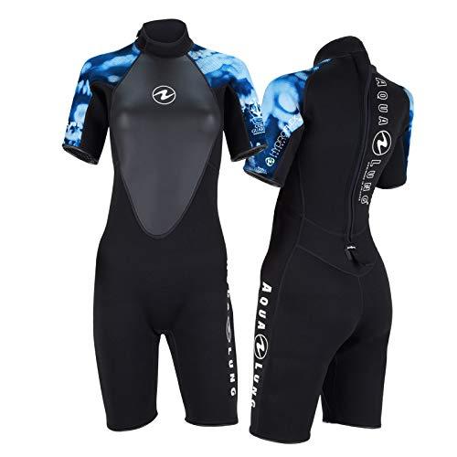 Aqua Lung Hydroflex - Pantalón corto para mujer (talla XXL), color negro y azul