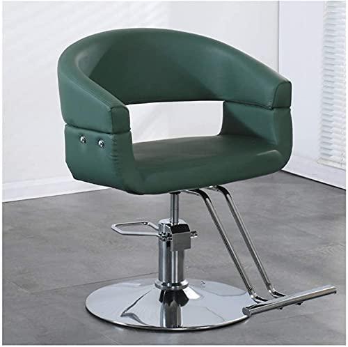 Silla de peluquería Silla de salón Silla de estilo Ascensor Rotating Barber Silla Moda Barber Shop Hair Salon Dedicado corte de pelo, Salón de belleza Spa Shampoo Equipment (Color : B)