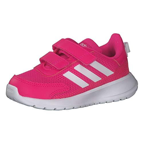 adidas TENSAUR Run I, Scarpe da Ginnastica, Shock Pink/Ftwr White/Shock Red, 21 EU