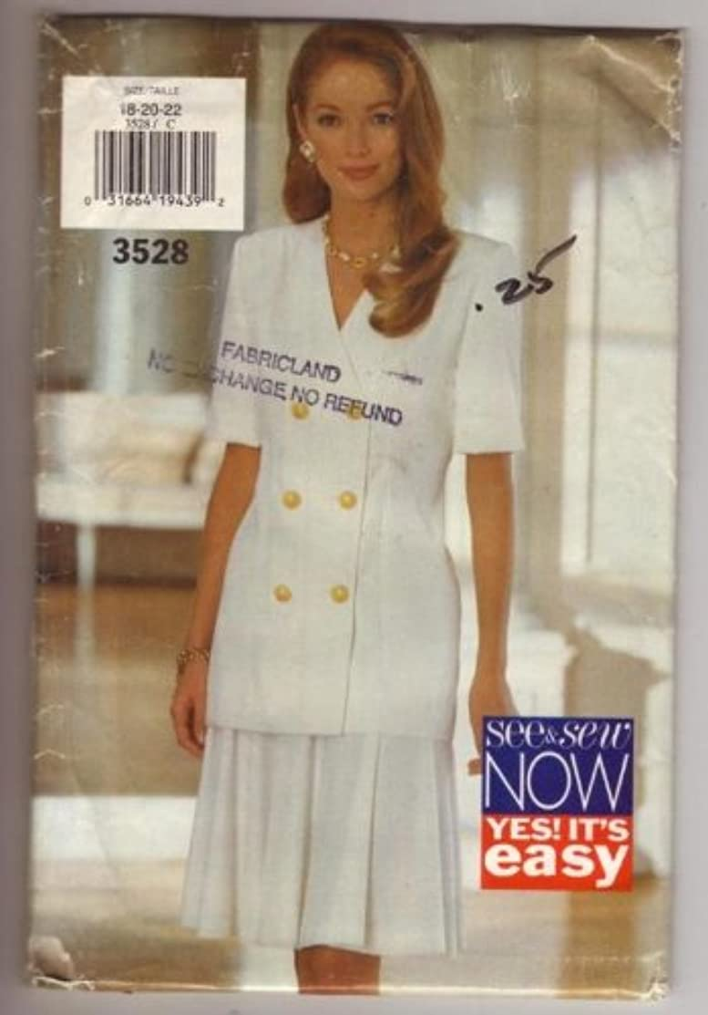 See & Sew Now 3528 Pattern for Misses' Top and Skirt (Size 18-20-22)