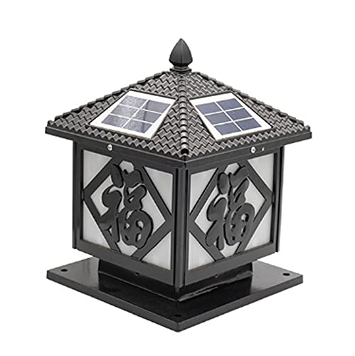 Blessing - Faro de columna 4x4 para exteriores LED moderno, impermeable, para villa, pilar, balcón, césped, paisaje, decoración de patio, linterna, jardín, patio, iluminación de entrada, lámpara de es