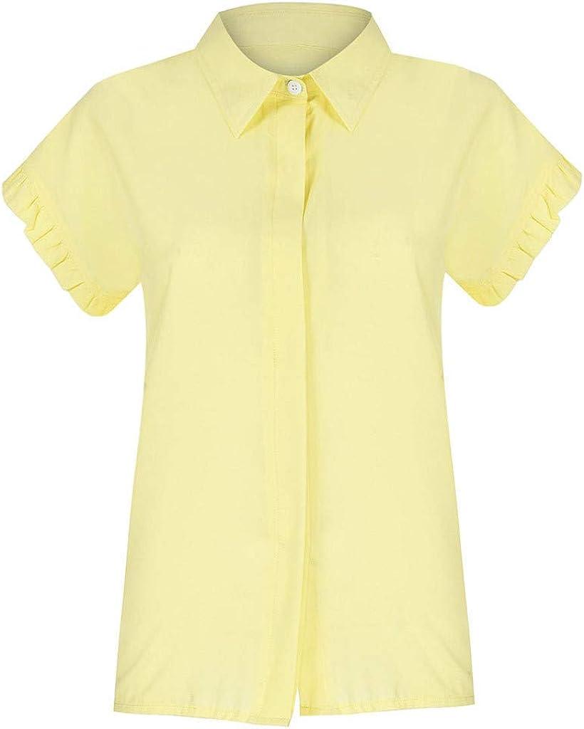 SEWORLD Bulsa de Mujer Botón Casual para Mujer Camisa con ...