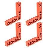 Coolty 4pcs Piastre di Posizionamento di 90 Gradi tipo L Plastica Righello Angolo Retto Strumento per la Lavorazione del Legno, Ausiliario Locator Angolo Staffa per Cornici Scatole, 6 Pollici