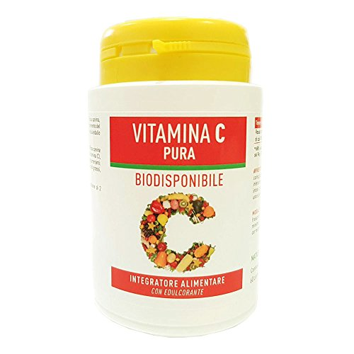 Vitamina C Pura Naturpharma 60 Compresse da 900 mg Gusto Arancia   Senza Glutine Senza Lattosio Vegan Approved