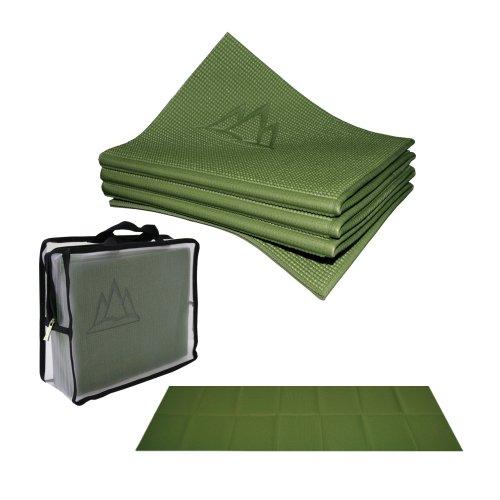 Khataland Yofo Professionelle Yogamatte, faltbar, 183x61x0,4cm, Waldgrün