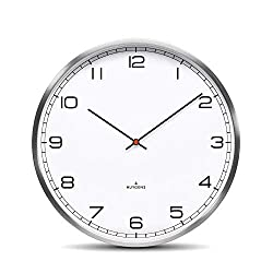 Huygens One35 White Arabic Wall Clock | Stainless Steel