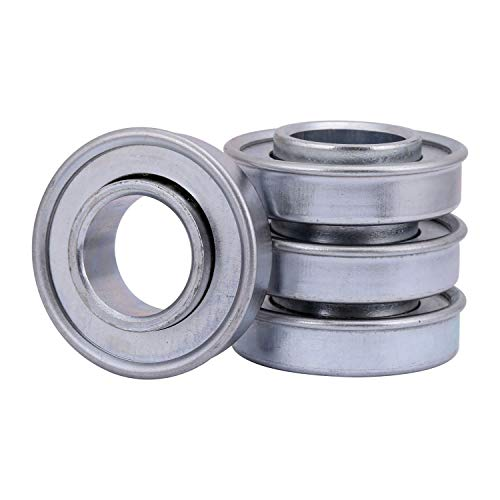 """XiKe 4 Pcs ID 1/2"""" x OD 1-3/8"""" Flanged Ball Bearings, Replace for Lawn Mower, Wheelbarrows, Garden Carts, Hand Trucks Wheel and More."""