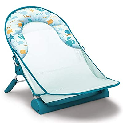Delta Children Baby Bather – Includes 2 Reclining Positions, School of Fish