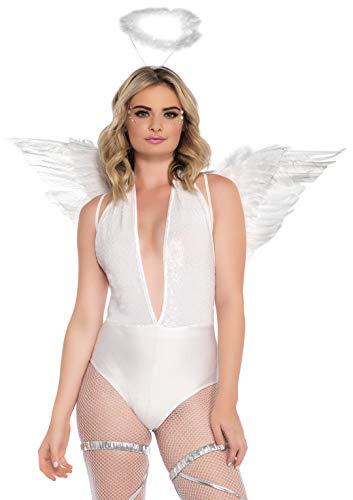 Leg Avenue - 206522002 - Accessoire pour Déguisement - Set d'accessoires - Modèle 2065 - Kit Accessoires Ange - Taille Unique - Blanc