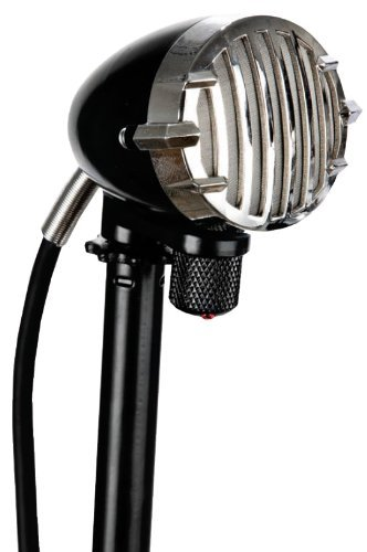 """Apex Apex327 High Impedance Dynamic Harmonica Harp Hypercardioid Microphone with Integrated 1/4"""" Cable and Volume Control"""