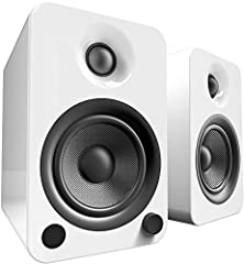 """4"""" Kevlar drivers and 1"""" silk dome tweeters deliver crisp highs and wonderfully balanced mid-range Integrated Bluetooth with Qualcomm aptX technology lets you enjoy high-quality streaming from the palm of your hand Equipped with a built-in phono prea..."""
